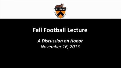 Thumbnail for entry Fall Football Forum: A Discussion on Honor