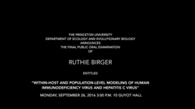 Thumbnail for entry The Final Public Oral Examination of Ruthie Birger
