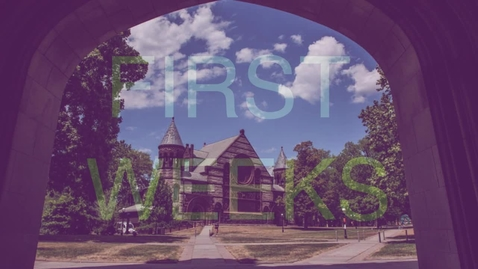 Thumbnail for entry First Weeks of the Semester
