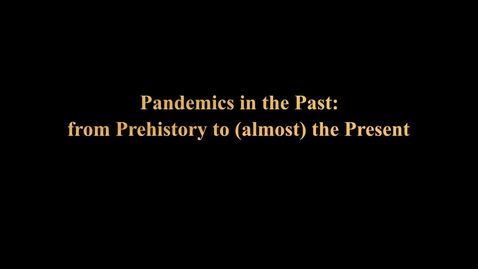 Thumbnail for entry Pandemics in the Past: from Prehistory to (almost) the Present  - The Story of Pandemics in Scholarship and Popular Culture, 1890-2020 - Eisenberg and Mordechai