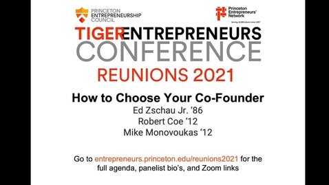 Thumbnail for entry Workshop: How to Choose Your Co-Founder