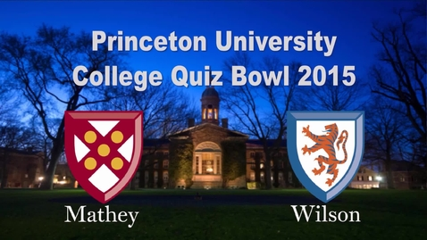 Thumbnail for entry College Quiz Bowl 2015
