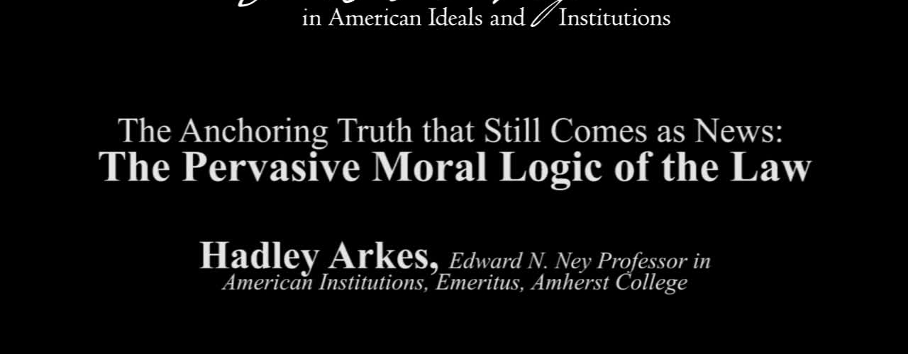 The Anchoring Truth that Still Comes as News: The Pervasive Moral Logic of the Law