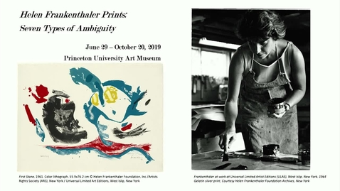 "Thumbnail for entry Carol Armstrong, Professor of the history of art at Yale University - ""Painting Printing Frankenthaler: The Process of Abstraction."""