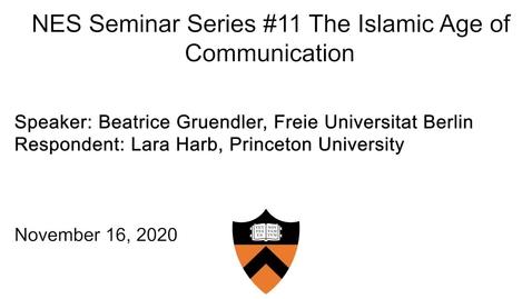 Thumbnail for entry Near Eastern Studies Seminar #11