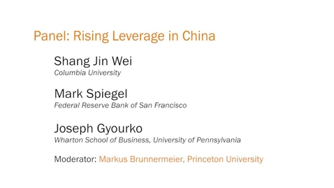Thumbnail for entry Panel: Rising Leverage in China