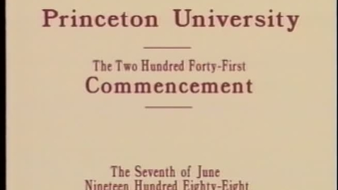 Thumbnail for entry 241st Commencement - June 7, 1988