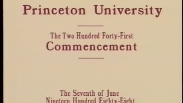 241st Commencement - June 7, 1988