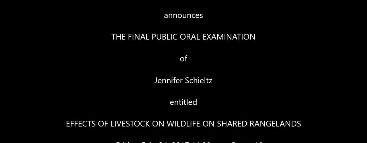 Final Public Oral Examination Jennifer Schieltz