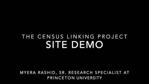 Thumbnail for entry Census Linking Project Website Demo