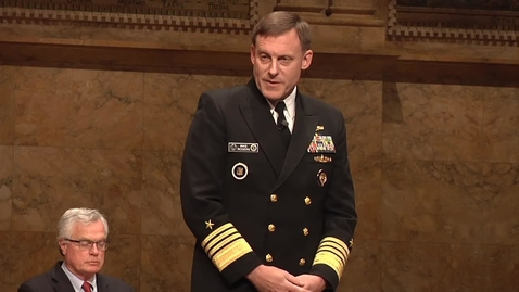 """Thumbnail for entry The G.S. Beckwith Gilbert '63 Lectures: Admiral Michael Rogers - """"Challenges and Opportunities in an Interconnected World"""""""