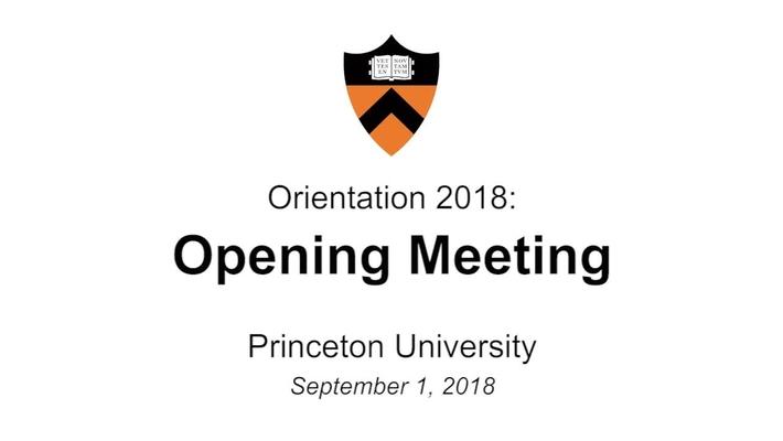Freshman Orientation 2018: Opening Meeting