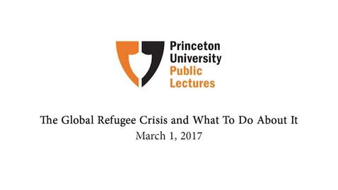 Thumbnail for entry Princeton University Public Lectures: Edge Lecture-David Miliband