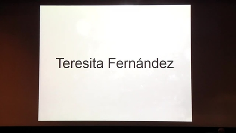 Thumbnail for entry Artist Talk: Teresita Fernandez October 13, 2016