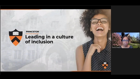 Thumbnail for entry Leading in a Culture of Inclusion for Managers [Part 2 Recording]