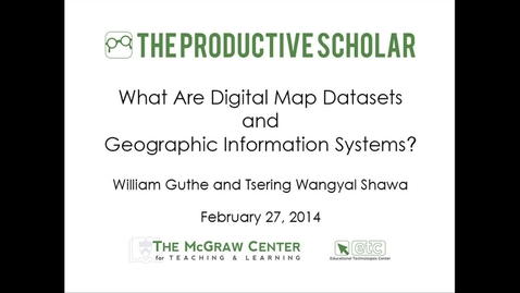Thumbnail for entry Productive Scholar-Map Datasets and GIS
