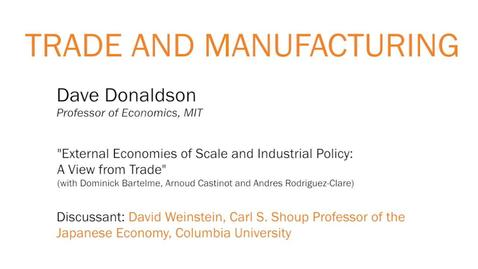 "Thumbnail for entry ""External Economies of Scale and Industrial Policy: A View from Trade"" - Dave Donaldson"