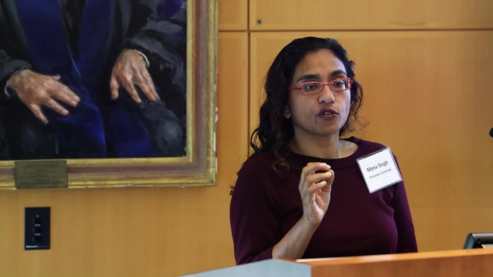 """Professor Mona Singh's research presentation on """"Interaction-based discovery of cancer genes"""""""