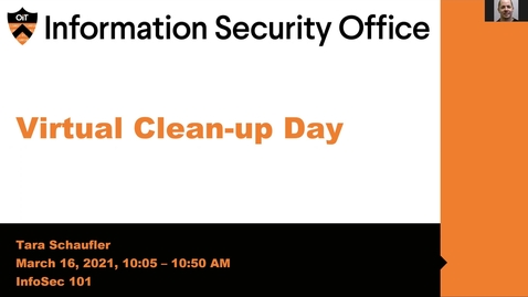Thumbnail for entry Virtual Clean-up Day