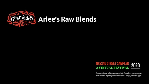 Thumbnail for entry Nassau Sampler - Arlee's Raw Blends