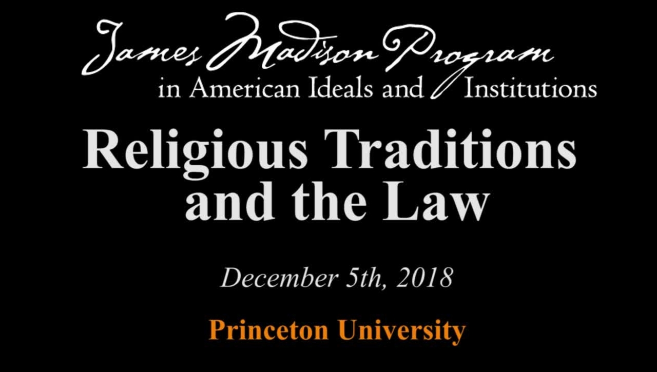 Religious Traditions and the Law