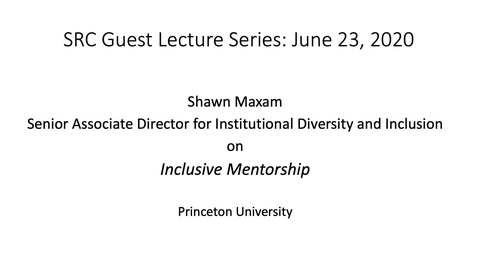 Thumbnail for entry Shawn Maxam on Inclusive Mentorship