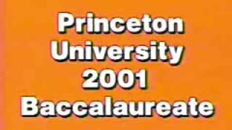 Thumbnail for entry Baccalaureate Ceremony 2001