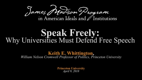 Thumbnail for entry Speak Freely: Why Universities Must Defend Free Speech
