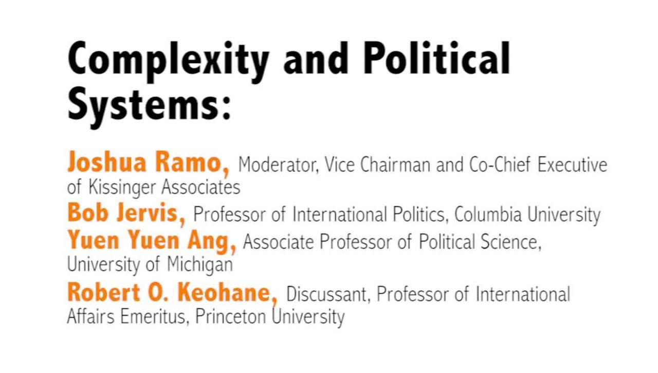 Metaphor – Promise and Peril: Complexity and Systems Thinking in Action : Day 1, Video 5: Complexity and Political Systems