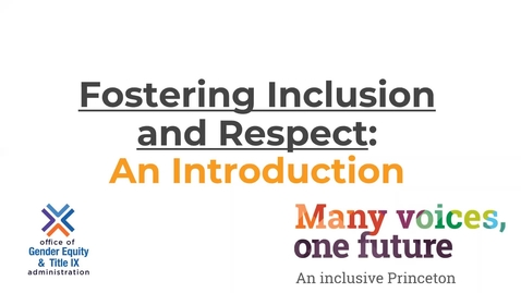 Thumbnail for entry Fostering Inclusion-Module 1 Intro