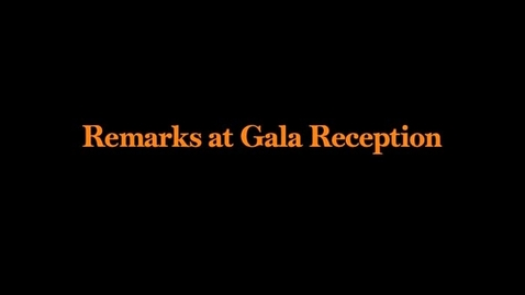 Thumbnail for entry Gala Reception