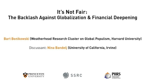 Thumbnail for entry The Dignity & Debt Network Confernece - It's Not Fair: The Backlash Against Globalization & Financial Deepening