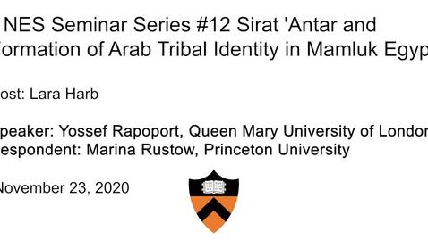 Thumbnail for entry Near Eastern Studies Seminar #12