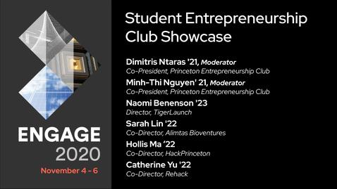Thumbnail for entry Student Entrepreneurship Club Showcase