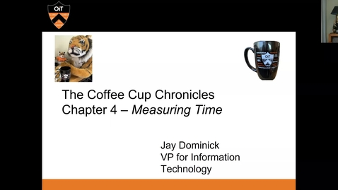 Thumbnail for entry OIT Coffee Cup Chronicles 4: Measuring Time