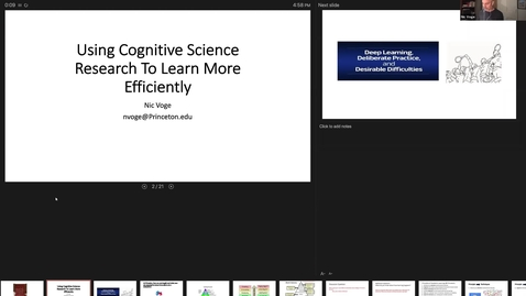 Thumbnail for entry November 18 McGraw Workshop Using Cognitive Science Research to Learn More Efficiently