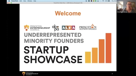 Thumbnail for entry Princeton Underrepresented Minority Founders Startup Showcase