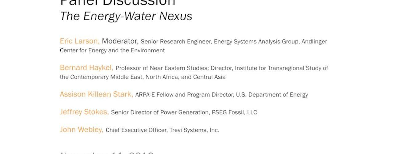 Panel Discussion: The Energy-Water Nexus