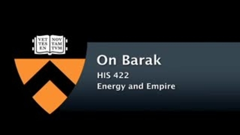 Thumbnail for entry HIS 422 - Barak