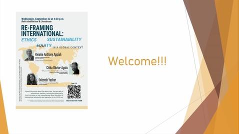 Thumbnail for entry Re-Framing International - September 22, 2021