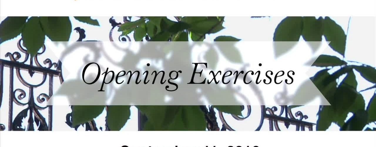 2016 Opening Exercises