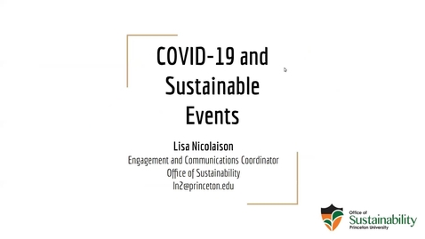 Thumbnail for entry COVID-19 and Sustainable Events