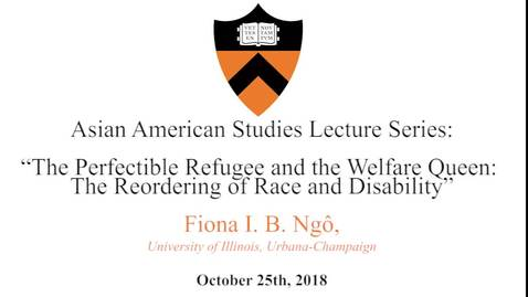 Thumbnail for entry Asian American Studies Lecture Series: Fiona I. B