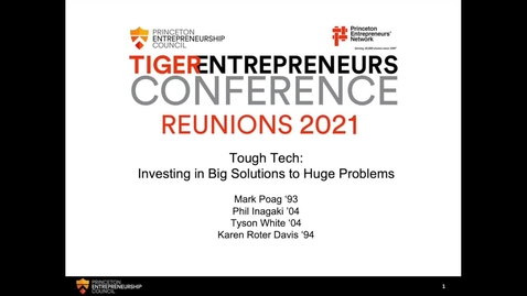 Thumbnail for entry Tough Tech: Investing in Big Solutions to Huge Problems