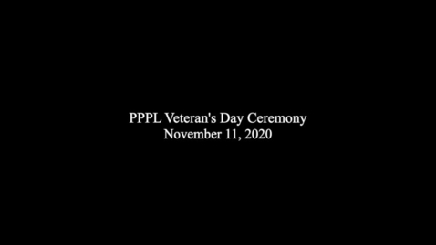 Thumbnail for entry PPPL_VeteransDay_2020