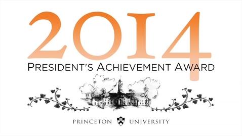 Thumbnail for entry 2014 President's Achievement Award