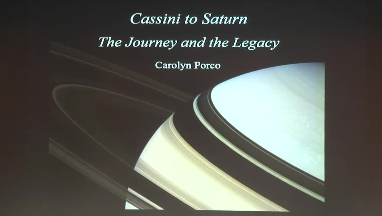 Vanuxem Lecture Series: Cassini to Saturn - The Journey and the Legacy