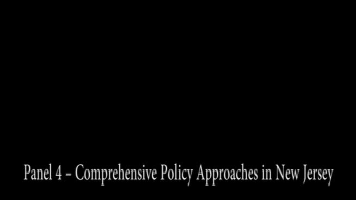 Pain Management Conference: Panel 4 - Comprehensive Policy Approaches in NJ