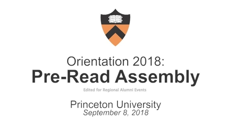 Thumbnail for entry 2018 Alumni Pre-Read Assembly Highlights