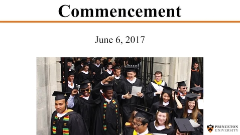 Thumbnail for entry 2017 Commencement Ceremony